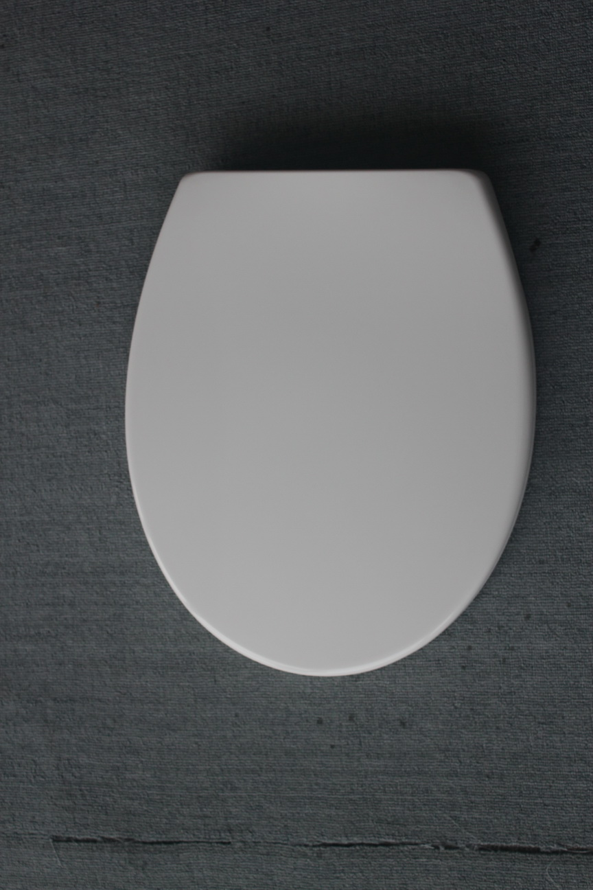 Duroplast toilet seat in oval