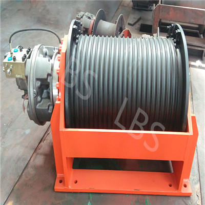 Lebus Grooved Geometry Drum with Spooling Device Hydraulic Winch