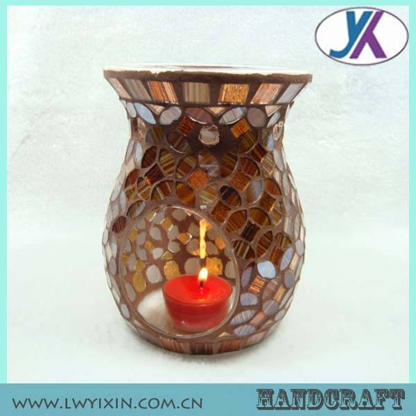 Malaysia home decorative colored mosaic glass burner aroma diffuser bottle