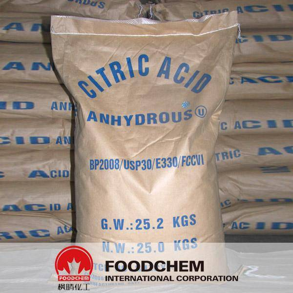 Citric Acid Anhydrous 30-100 mesh Food Grade