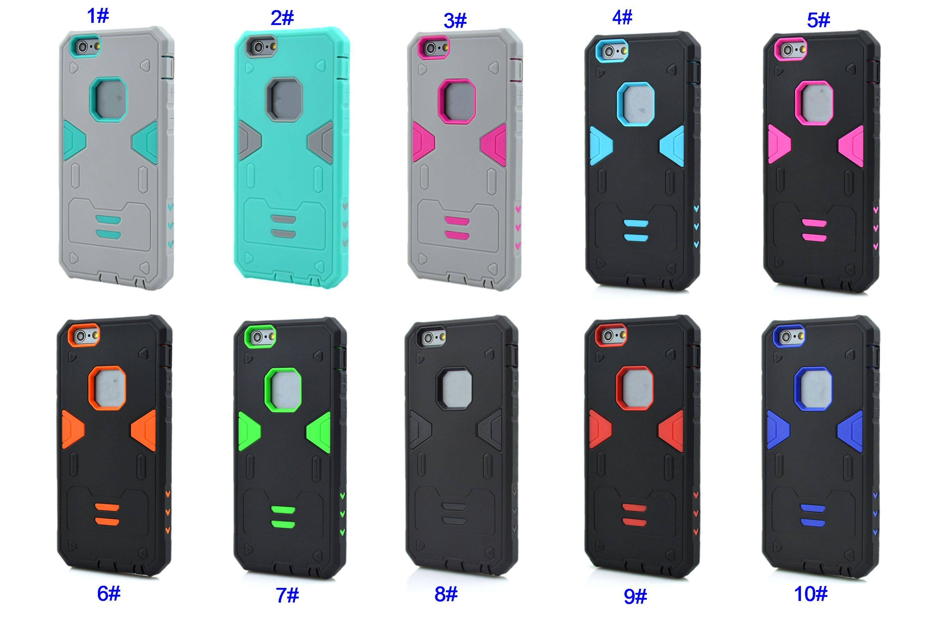 Shockproof Hybrid Rubber Armor Hard Case Heavy Duty Silicone Cover for iPhone 6 6S Plus IP6C131