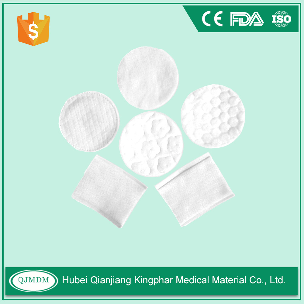 Fabric Cosmetic Cotton Pads For Facial Skin Cleaning Round Or Square