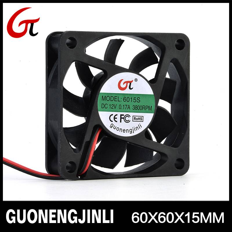Manufacture selling 12V 6015 dc cooling fan for CPU cooling