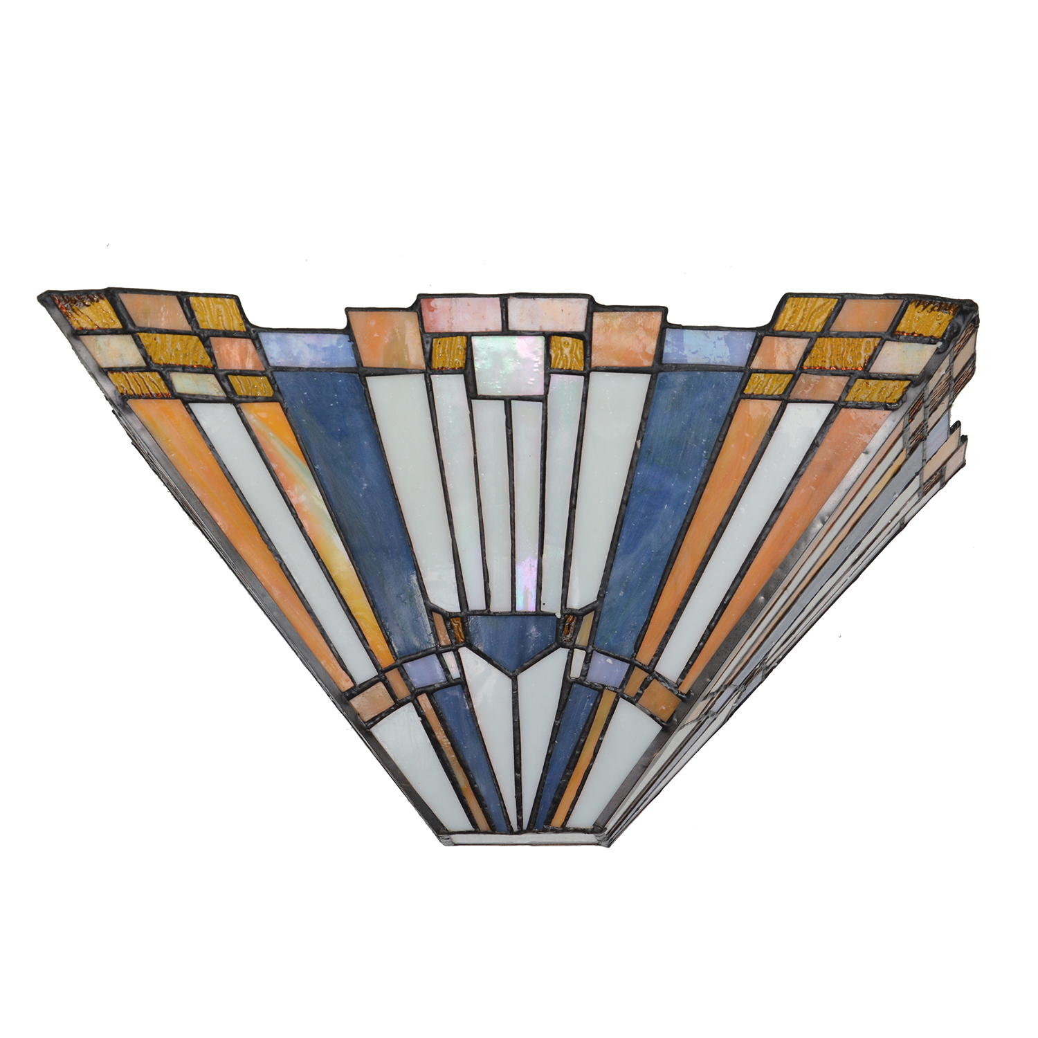 Tiffany style Inglenook Wall Sconce Stained Glass Geometric Wall Light Leaded Lamp