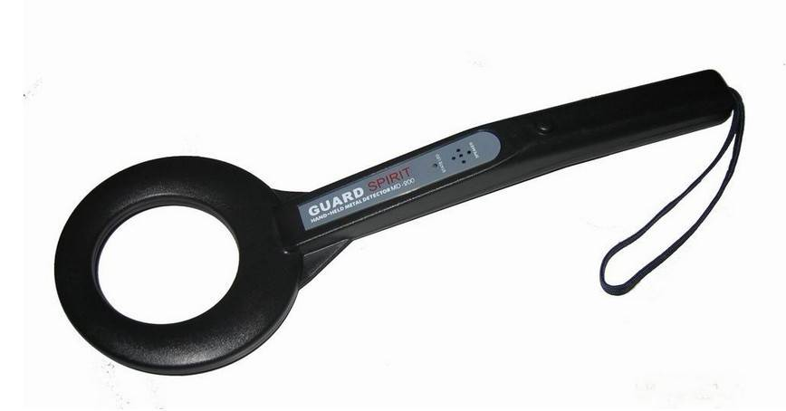 Public Security Portable hand held metal detector Black With vibration motor