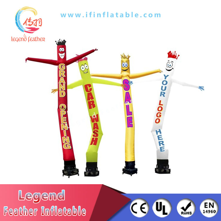 Single Leg Inflatable Air Dancers Inflatable Wave Man For Advertising
