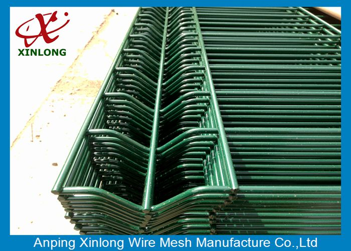 Widely Used 20050mm Powders Sprayed Coating Dark Green 3D Wire Mesh Fence