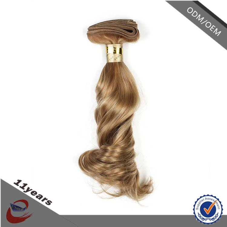 Best Quality Natural Blonde Curly Human Hair Extensions , Virgin Indian Wholesale Human Hair Extensi