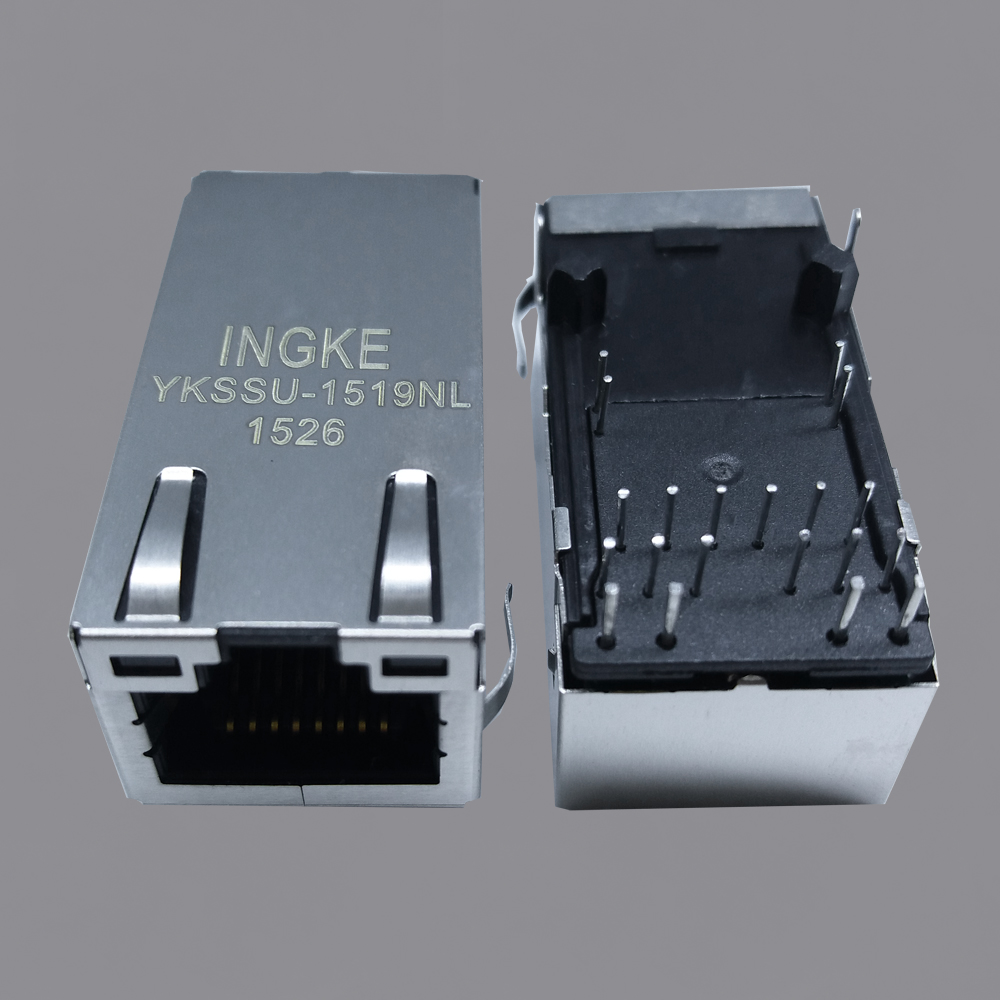 Ingke YKSSU-1519NL 2.5G Base-T, Power over Ethernet+ (PoE+) RJ45 Magjack Connectors
