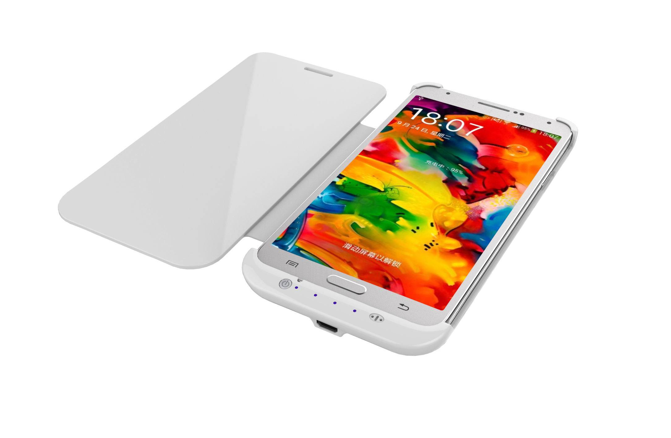 External Battery Case with Slip Cover for Samsung Galaxy Note3