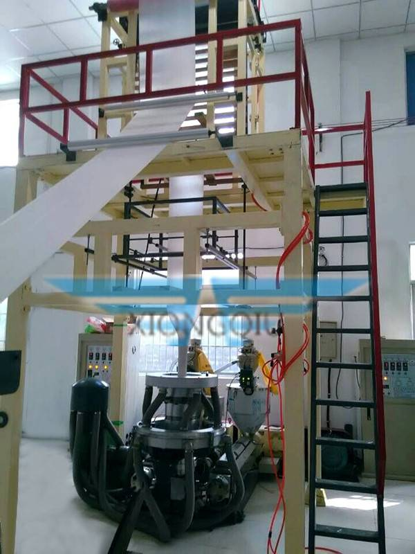 ABA 2 layers co-extrusion film blowing machine