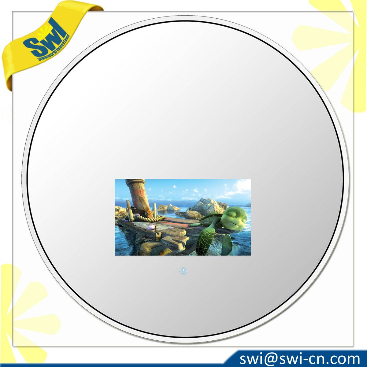 Vanishing Wall-mounted shape mirror TV
