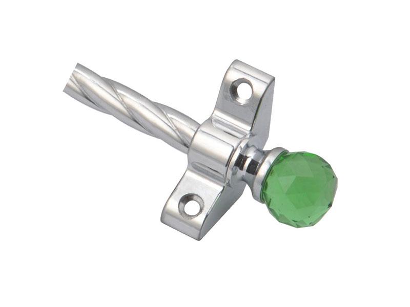 Customizable crystal decoration stair rod