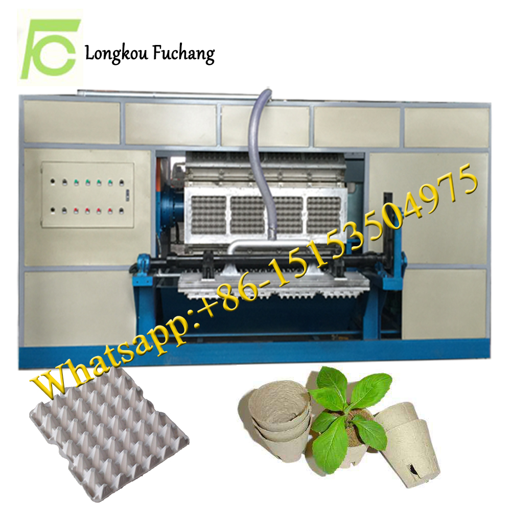 waste paper recycling small paper egg tray machine/paper egg box making machine price/electrical pro