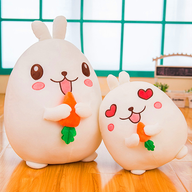 Cute rabbit soft toy rabbit doll with carrot gift DS-RB008
