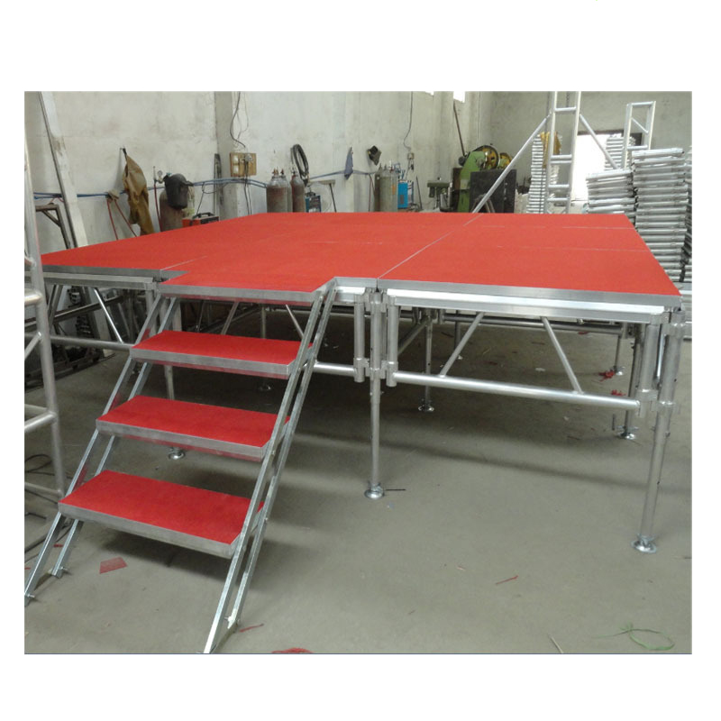 Anti - skidboard aluminum alloy stage aluminum outdoor stage with clasee class stage