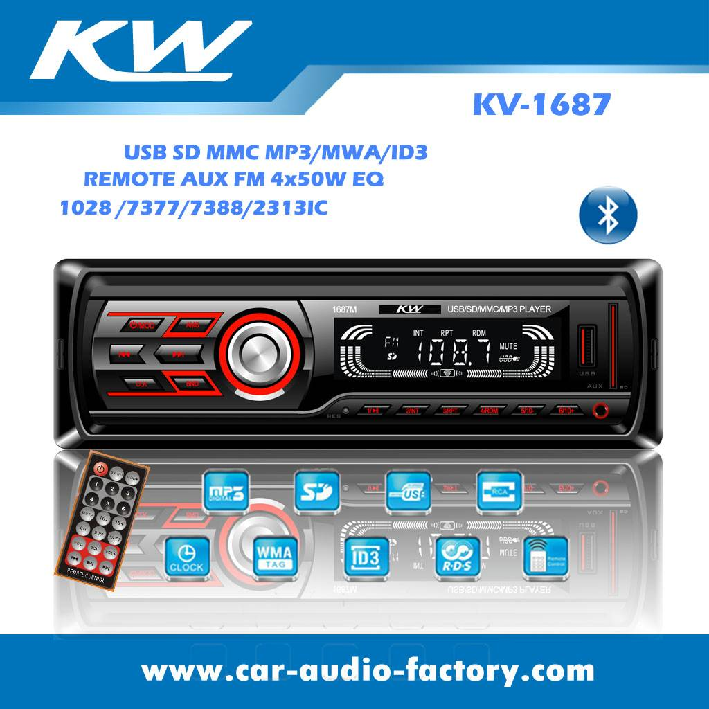 KV1687 Fixed Panel Car audio MP3 player
