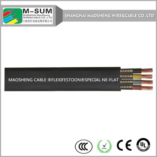 China Hot Sales H07VVH6-F YFFB Flat Hoist Crane Cable