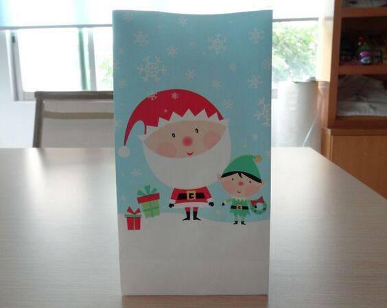 Plastic Custom Printed santa sack