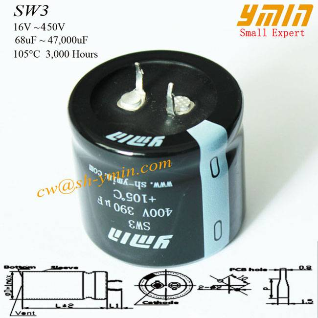 85°C Capacitor Snap in Electrolytic Capacitor for Audio and Speakers