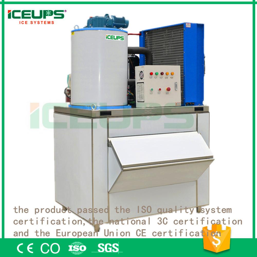 1T/24h ice making machine seafood ice flake machine