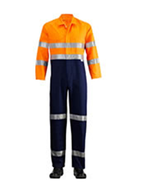 Hi Vis Two Tone Raglan Sleeve Coverall with 3M 9920 Tape