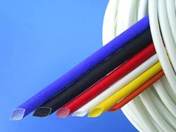 Double-layer FIBREGLASS of silicon rubber tubing ----FIBREGLASS inside and silicon rubber outside, h