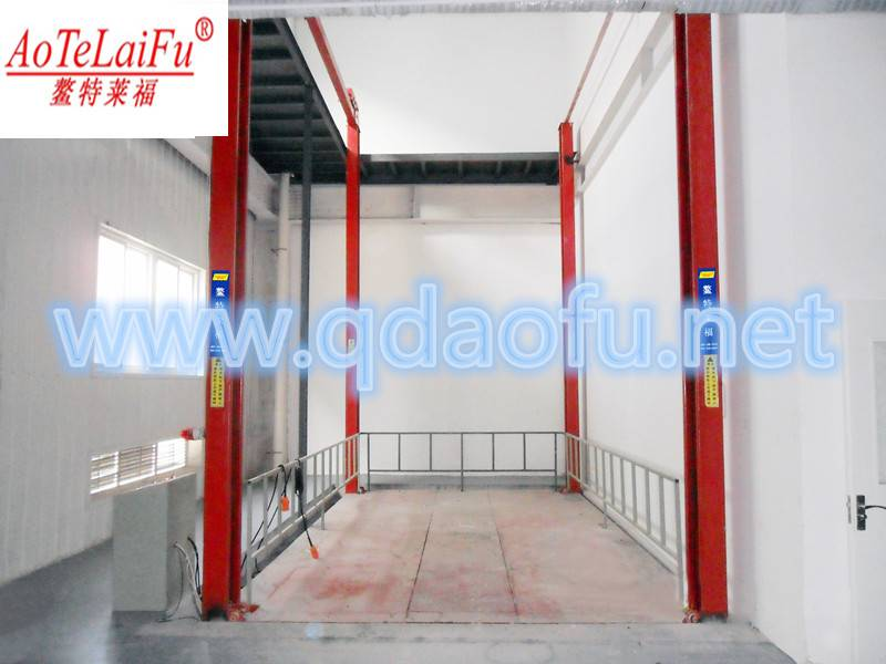 Hydraulic 4 post double chain car lift made in China