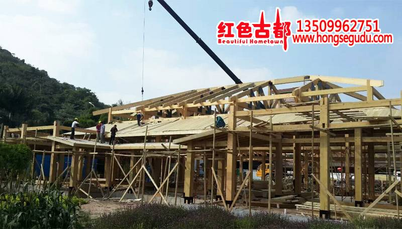 Supply Large villa wooden house family wooden house