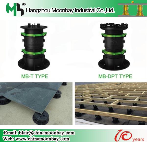 Hangzhou Moonbay adjustable plastic screwjack pedestal