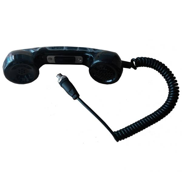 Air plug pust to talk electronic industrial telephone handset