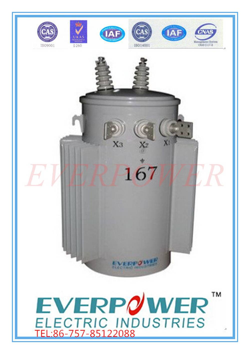 Single phase Pole mounted transformer 13.2Gd.Y/7.62kV