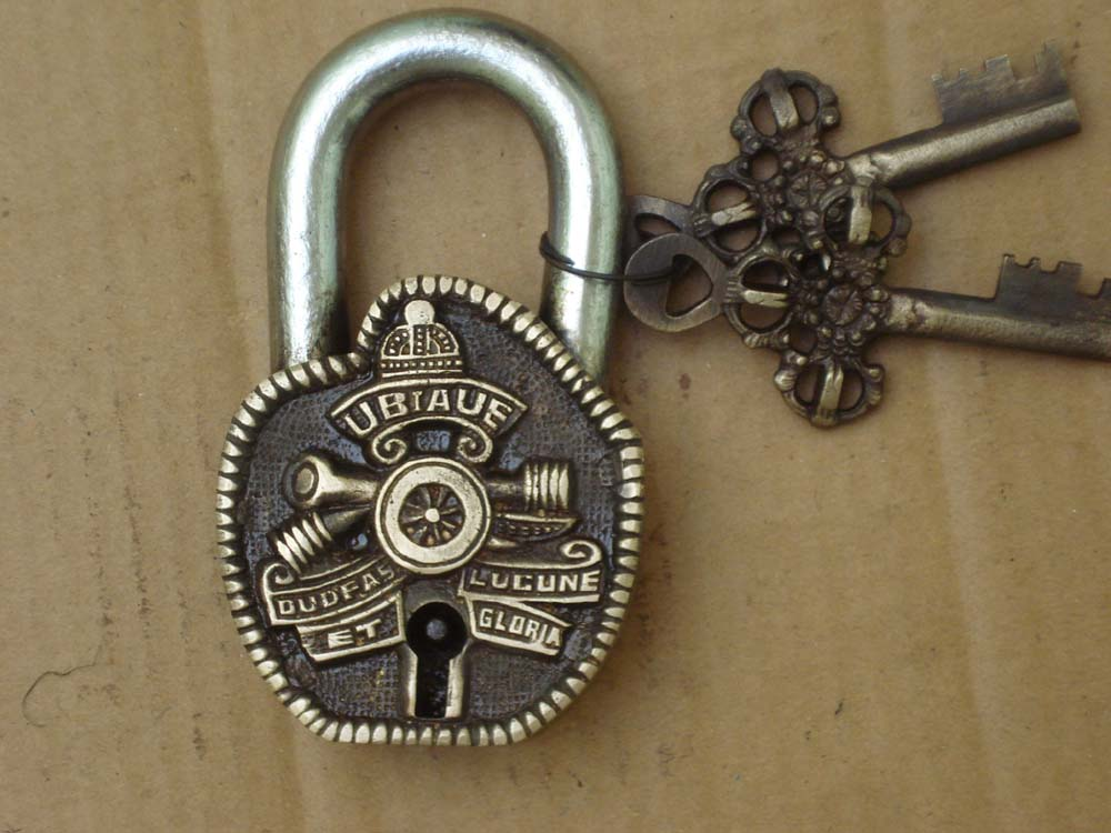 Antique Brass Safety Pad Lock