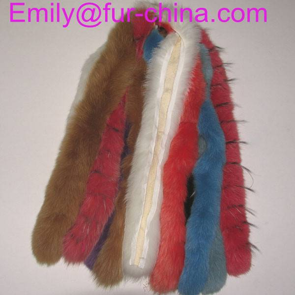 Dyed any color Fox Fur Trim