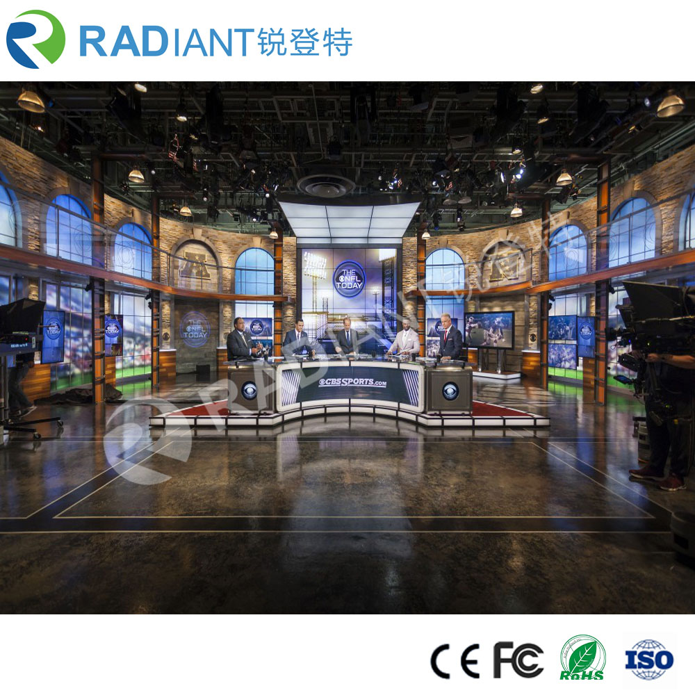 P2.5mm HD advertising flexible led display screen for TV studio