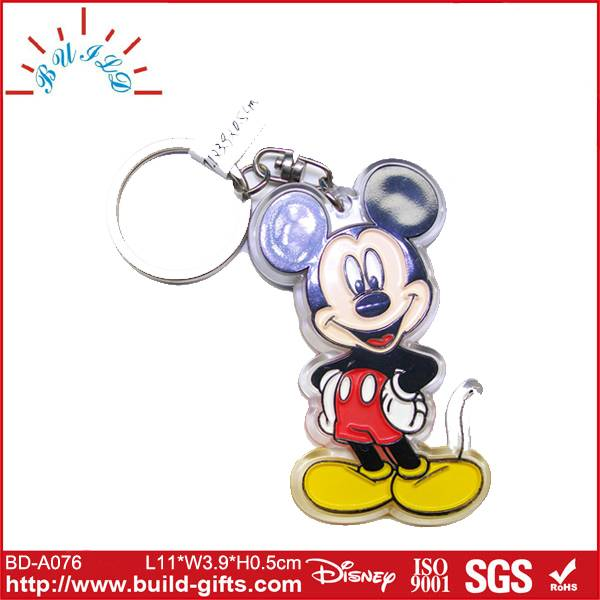 mouse shaped acrylic key chain