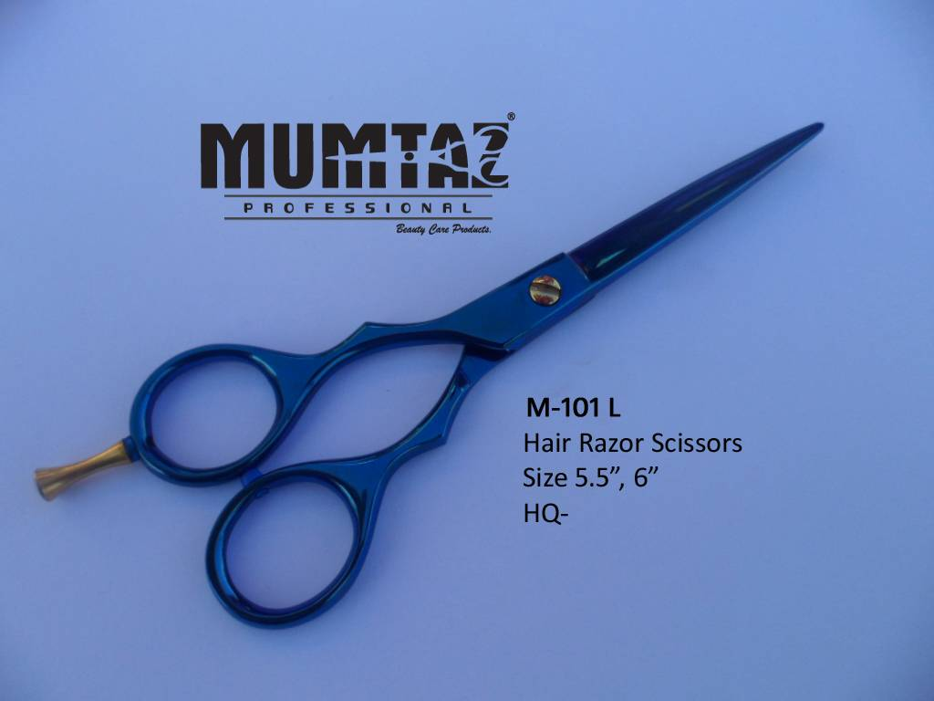 Razor Scissors Titanium Blue Left hand