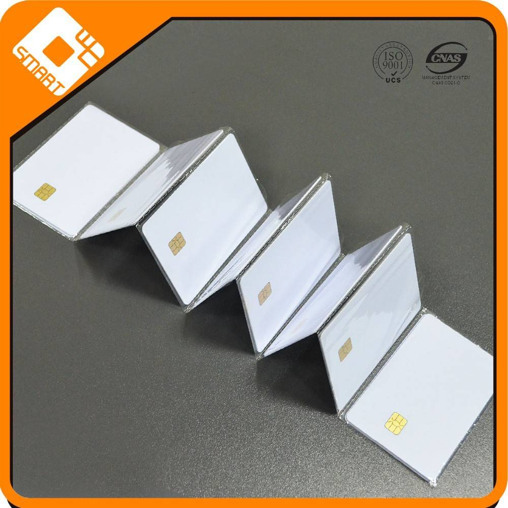 ISO standard Size of Blank white PVC card with 4428 chip