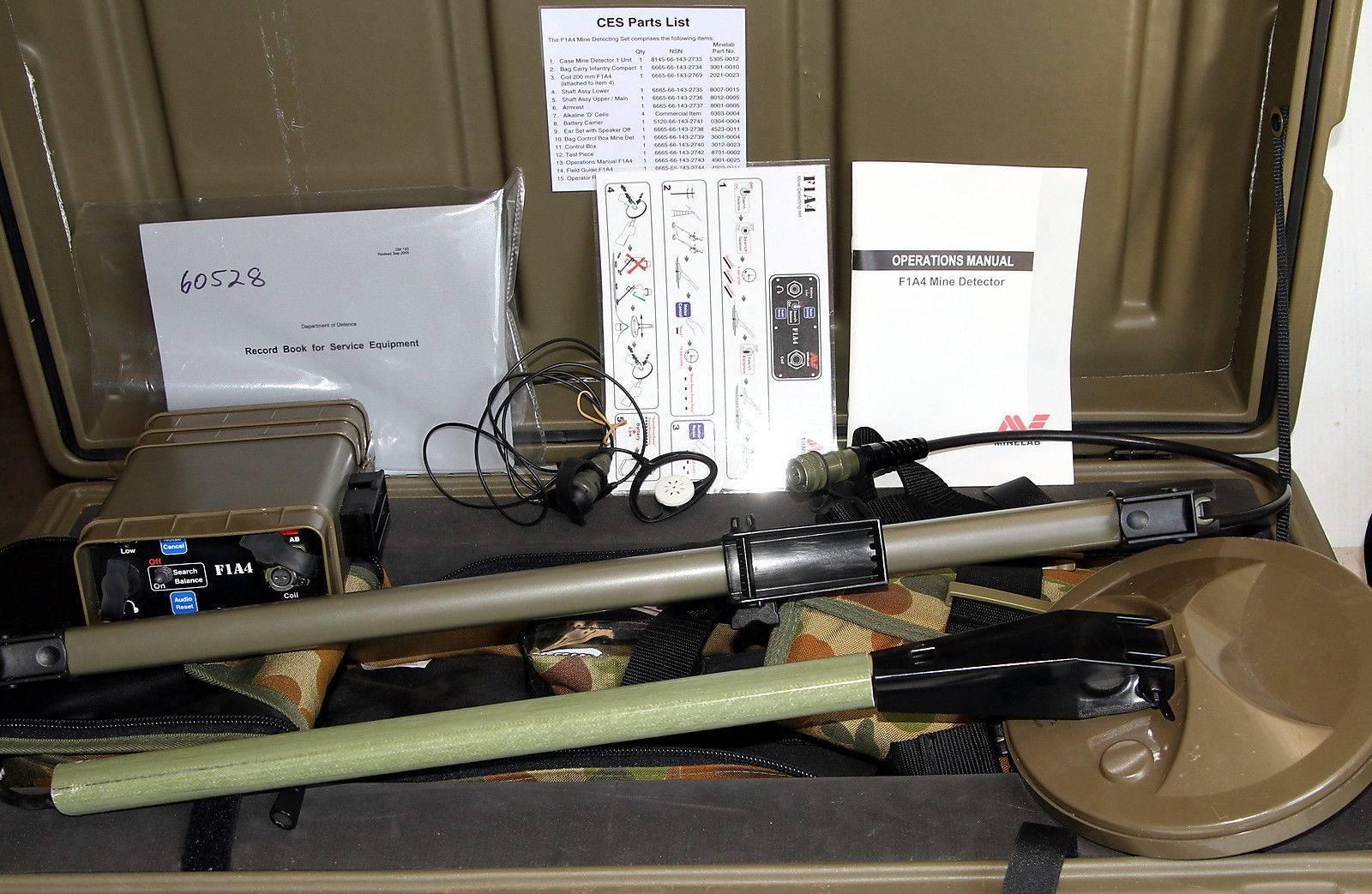 Minelab F1A4 GOLD & METAL Detector + Military Ordnance Clearance-