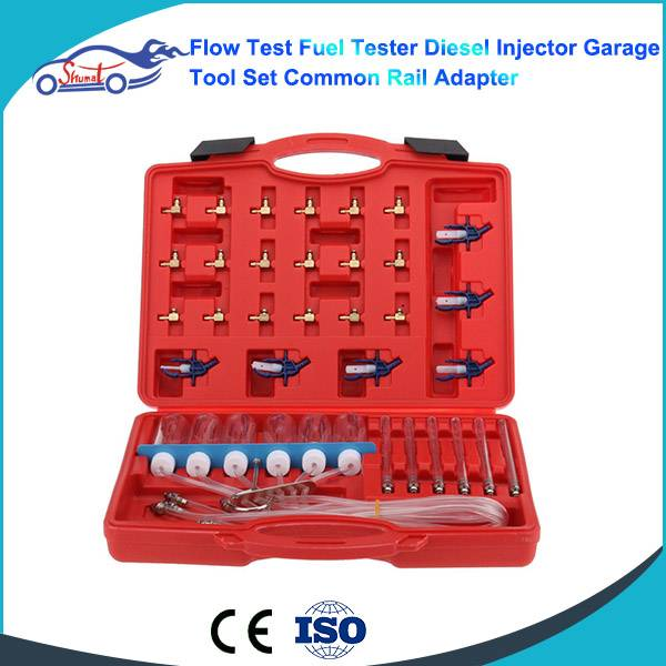 Flow Test Fuel Tester Diesel Injector Garage Tool Set Common Rail Adapter for AUTO FUEL INJECTOR FLO