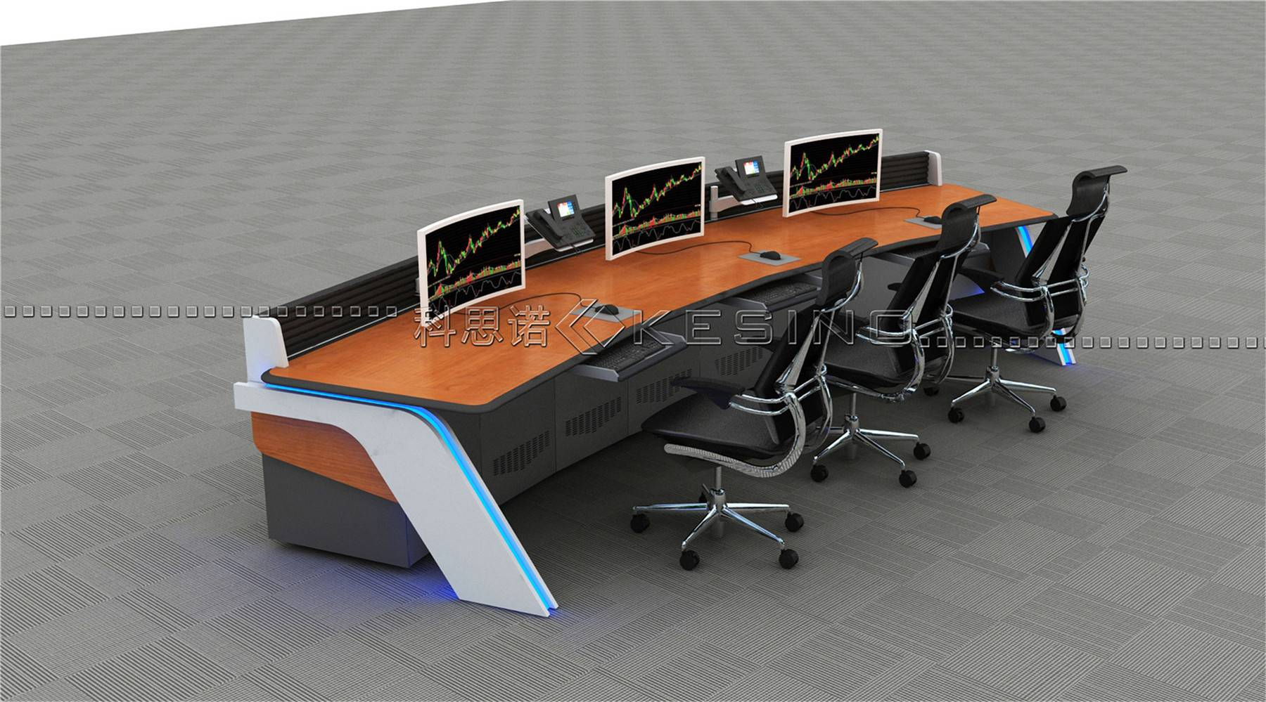 greenguard Certified scheduling control room console