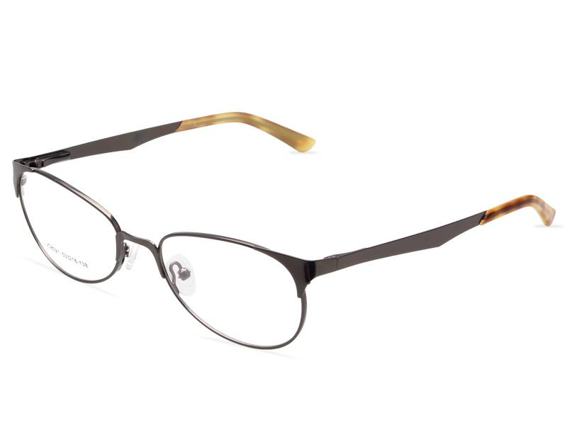 Fashion design flexible super light weight stainless steel metal optical frame JC8021