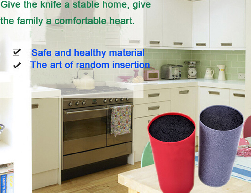 High Quality Plastic Free Insert Knife Block/Holder