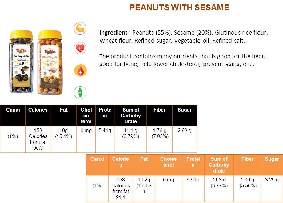 Crispy PEANUT Sesame snack coated covered wrapped (Tan Tan brand Vietnam, Jolie 84983587558)