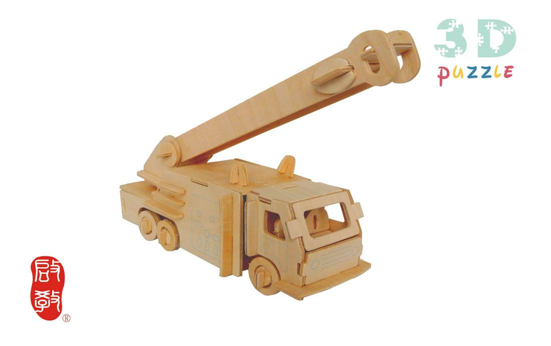 3D Wooden Simulate Models Car Model FIRE ENGINES