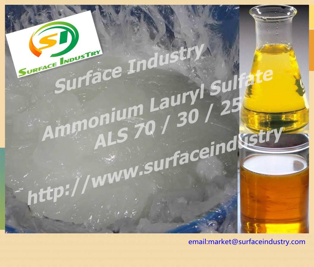 Mild Surfactant Ammonium Lauryl Sulfate,ALS 70,30 AND 25