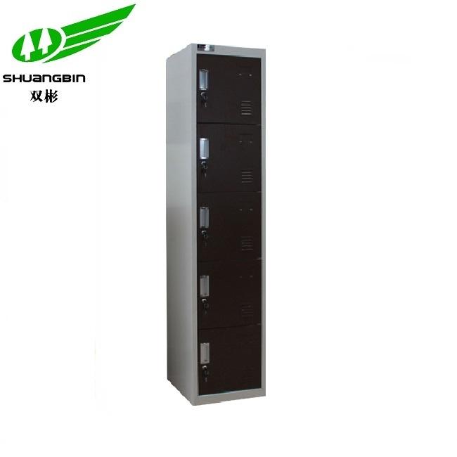 Modern cold rolled steel different colour 5 door metal locker