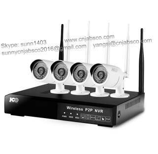 P2P Camera, Cloud Service,1.0MP & 1.3MP 4ch Wifi Nvr Kit, Wireless NVR Kit, HD NVR Kit