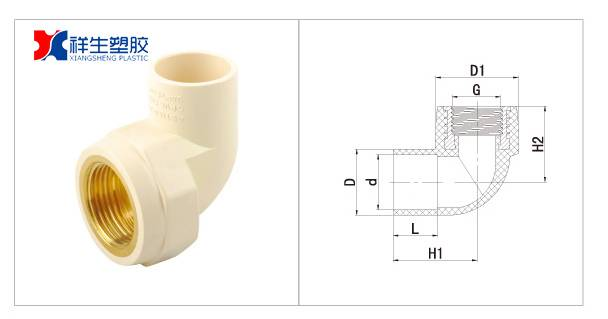 CPVC FEMALE ELBOW(BRASS THREADED)