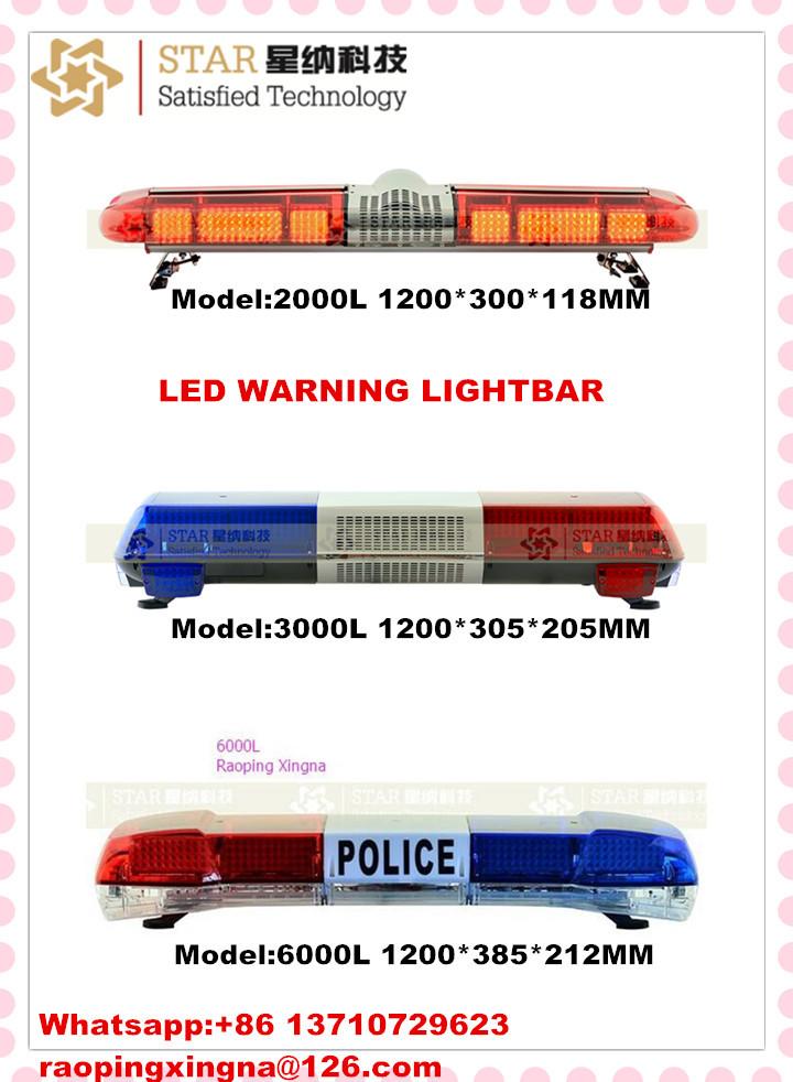 police led emergency strobe warning light bar red and blue light bar